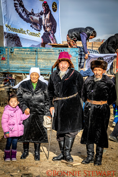 Local family arriving to watch the Altai Nomad Games 2018