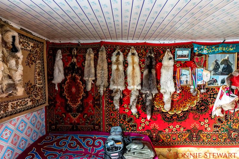 Inside Mr. Ardak's winter home