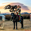 Mr. Sailou, Mongolia Horse, Kazakh Eagle Hunter; Ghers