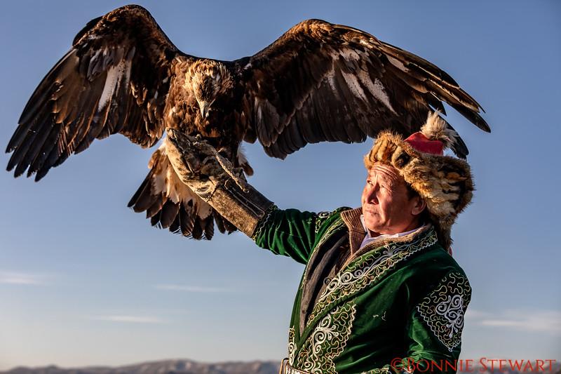 Mr. Bashakhan and his eagle
