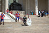 Wedding photos at the statue of Chinggis Khan