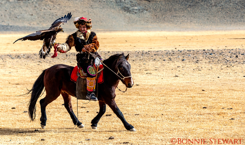 Eagle Hunters participating in the Altai Nomad Games 2018