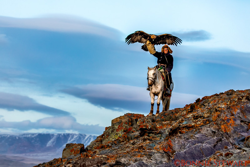 Eagle Hunters Mr. Ardak in the Altai Mountains
