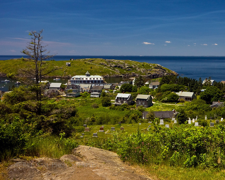 A view looking west from the Monhegan Island Light.