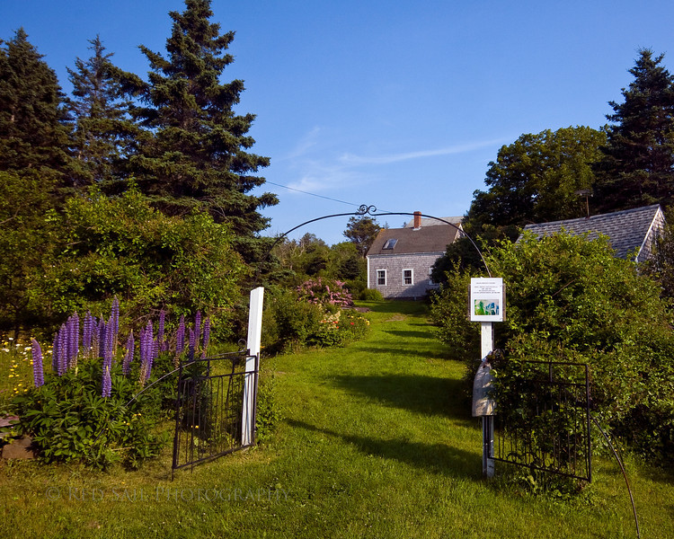 Entrance to one of the Monhegan Island art galleries.