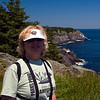 Mary Lou at White Head on Monhegan Island, Maine.