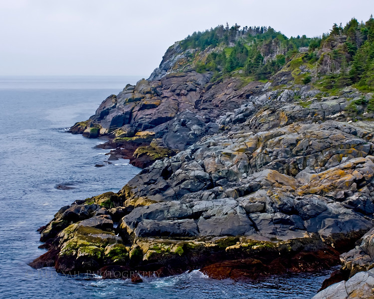 Oceanside, Monhegan Island, Maine. Image looking towards White Head. Access to this spot is through the Cathedral Woods Trail.