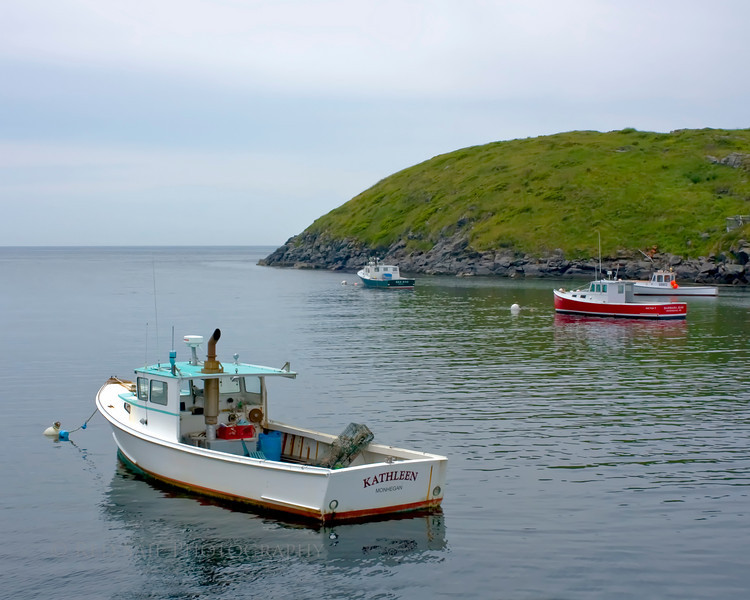 Lobster boats in Monhegan Island harbor