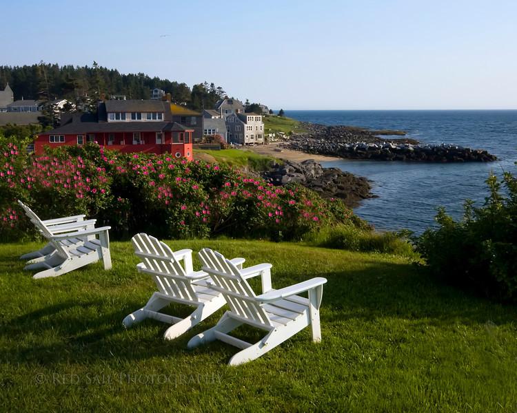 Island Inn lawn, Monhegan Island, Maine.