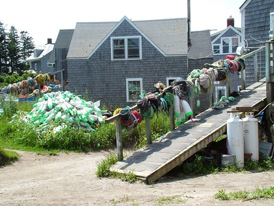 Fish houses.