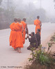 "Ban Khone Villagers Making Merit, ""Tum Boon"", By Giving Food to Monks, Ban Khone  Luang Nam Tha Province, Laos"