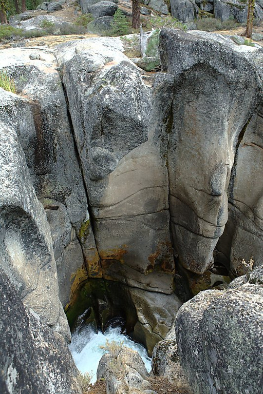 This stream sure had cut a long way down into the rock.