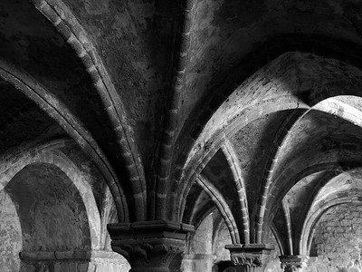 Arched roof on Mont Saint Michel.