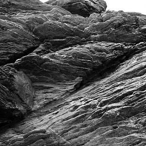 Rocks shaped by the ocean