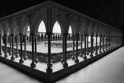 Cloister on Mont Saint Michel
