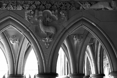 Cloister on Mont Saint Michel