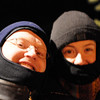 Michal and Sarah on the sleigh ride.