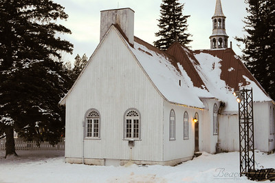 Little church where the ice skating was.