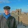 Ben on the ramparts of the Fort in Montalcino. It isn't so evident from this picture but it was COLD and WINDY up there. Note the almost empty courtyard behind Ben. Not many people were silly enough to go out in that cold. Stupid tourists.
