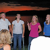 The Von Trapp grandchildren (think Sound Of Music).  They just happened to be visiting and broke out into song.  Beautiful voices.