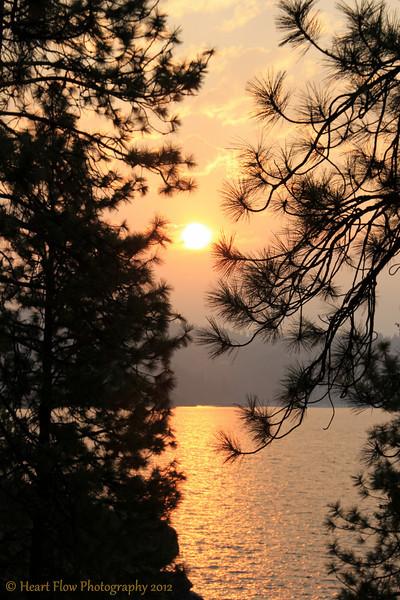 """Sunrise""<br /> Tubbs Hill<br /> Lake Couer d'Alene, ID"
