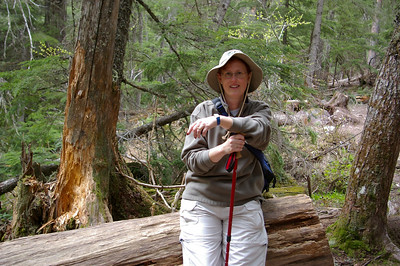 Wendy out on a hike in Glacier National Park