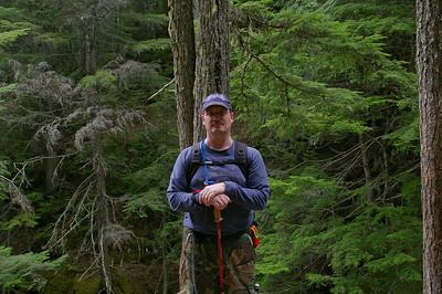 Kevin Haney hiking in Glacier National Park
