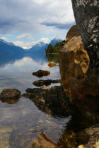 Lake McDonald in Glacier National Pake.  I climbed down the rocky bank of the lake and used my new wide angle lens (12-24mm) to get this shot with the rocks in the foreground.