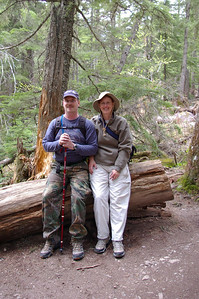 Kevin & Wendy out on a hike in Glacier National Park
