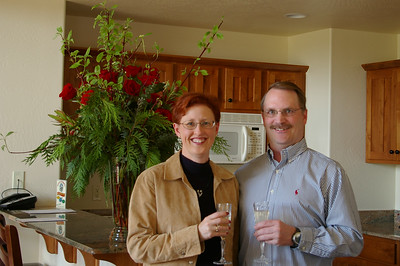 Kevin & Wendy Haney celebrating 20th anniversary at resort in Columbia Falls, MT.  Kevin surprised me with roses in the room when we arrived.