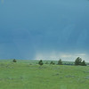As we were driving up to camp, we saw a storm off in the distance.  I thought for sure it would miss us...