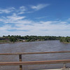 A swollen river....I think it was the Yellowstone River.  Amazing...the dought we're having and the excess of rain they're having.
