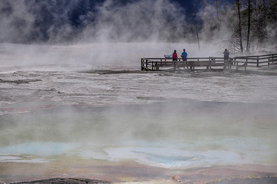 Mammoth Hot Spring Terraces, Yellowstone National Park WY