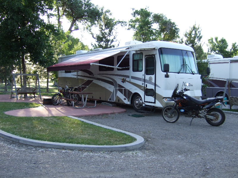 WOW!  What a primo camp site.  Welcome to the First KOA campground!  Located in Billings Montana.