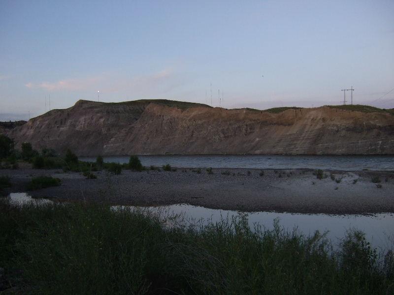 The Yellowstone River, at Billings KOA.