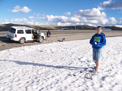Yellowstone Vacation - Abigail Enjoying the Snow
