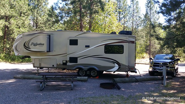 Campsite at Beavertail SP