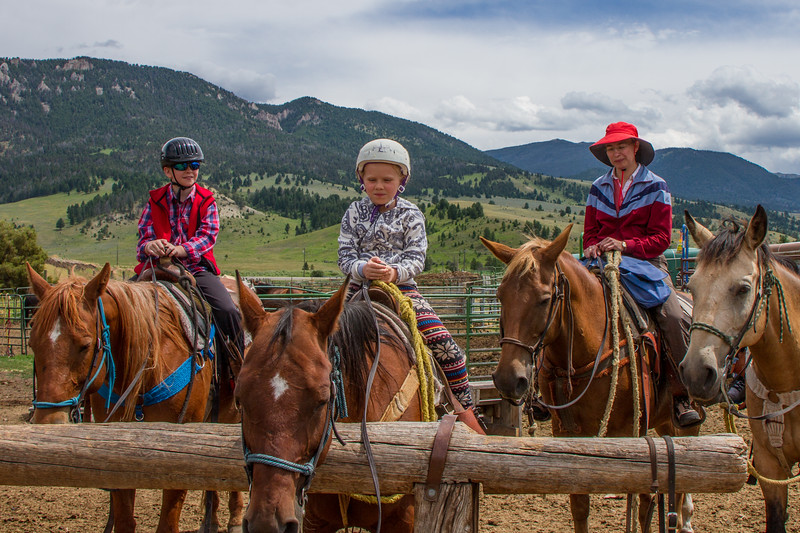 Horseback riding at Jake's horses in Big Sky, MT