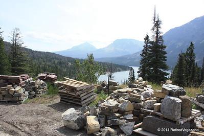 Road Construction In Progress Saint Mary Lake - Road to the Sun