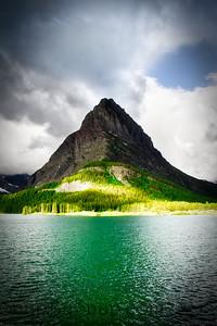 Stormy Skies Over Mountain Lake
