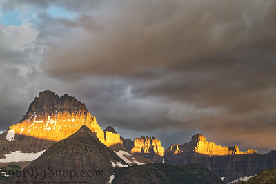 Stormy Mountain with Morning Light