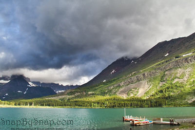 Stormy Skies Over Mountain Lake