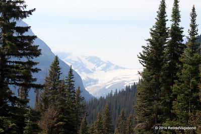 I got a peak at snow-glaciers along the way
