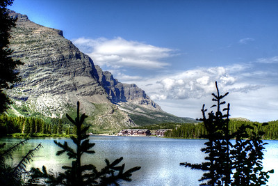 Swiftcurrent Lake and the Many Glacier Hotel