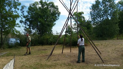 Building a Teepee