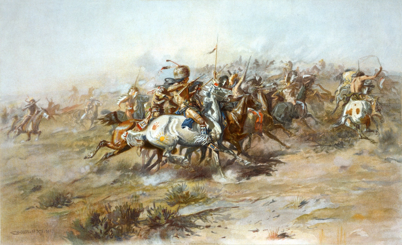 Charles Marion Russell - The Custer Fight (1903)