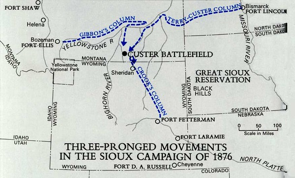 1876 Army Campaign against the Sioux - Couretsy wikipedia