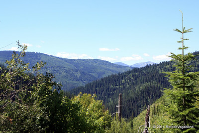 Looking from Lolo Pass into Idaho - Lewis and Clark were discouraged to see this. Endless mountains.