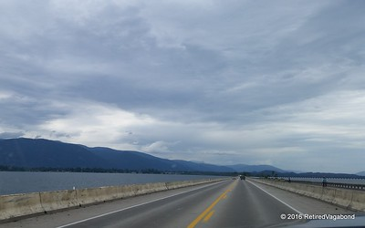 Crossing Lake Pend Oreille - Confluence of the Clarks Fork