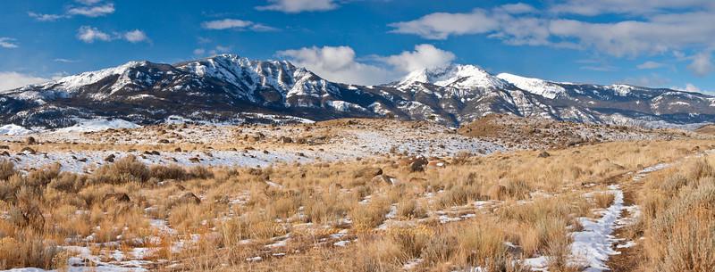 Gallatin Range above Gardiner Montana